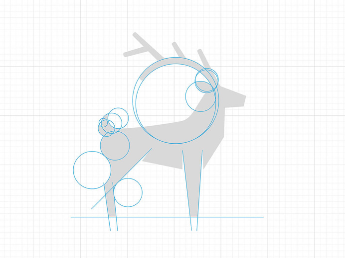 Blue Stag #construction #geomatery #logo #identity #animal #stag #icon #branding #mark