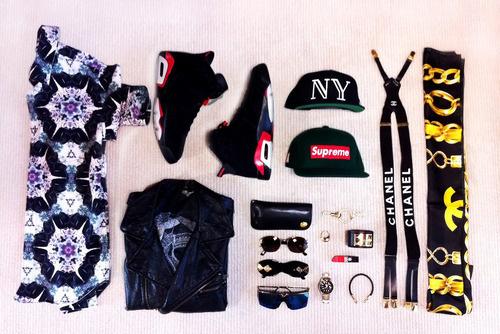 shoes:jordan6,hat:40oz,supreme,accessory:chanel,hermes,ysl,cartier,insta:@blvckgoldie #fashion #mens #photography