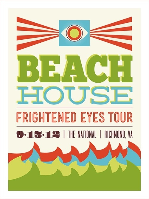 Beach House Poster #print #design #collateral #poster #type #typography