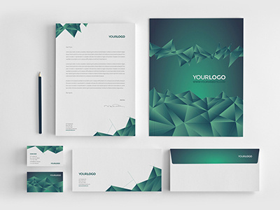 Green Galaxy Stationery Download here: http://graphicriver.net/item/green-galaxy-stationery/8177390?ref=abradesign #modern #simple #minimal #gradient #stationery #science #green