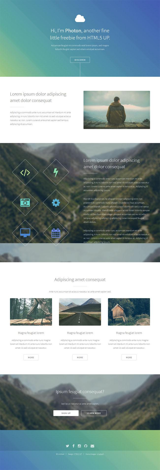 Photon : Free Responsive HTML5 Template