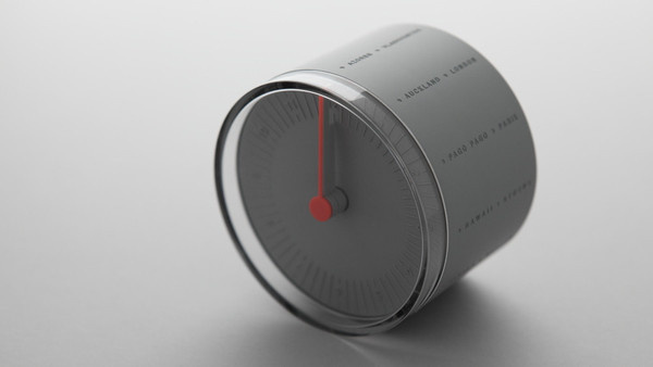 11+ World Clock #clock #design #red #grey
