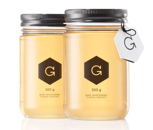 Gibbs Honey #packaging #black #simple #honey
