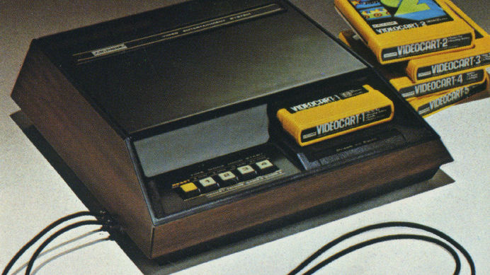 The Untold Story Of The Invention Of The Game Cartridge   Fast Company   Business + Innovation #electronics #fairchild #yellow #woodgrain #gaming #vintage #cartridge #game