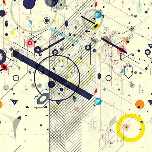 Virtual Chaos on the Behance Network #shapes #illustration #design #graphic
