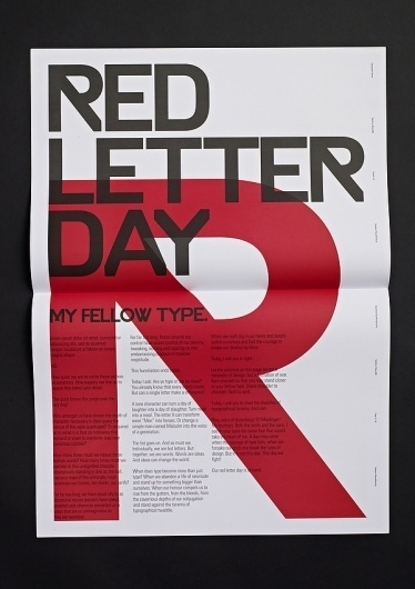 4e9e447d8c64b8fa31580cbcfd333d90.jpg (JPEG-Grafik, 600×850 Pixel) #red #letter #day #poster #typography