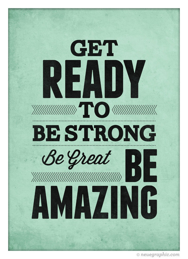 Get ready to Be Strong #quote #print #design #etsy #neuegraphic #poster #typography