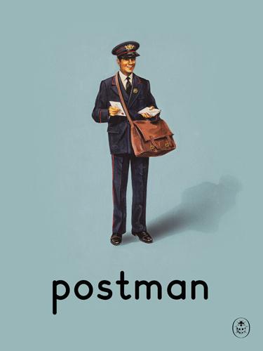 postman Art Print by Ladybird Books Easyart.com #vintage #artprints #print #design #retro #art #bookcover