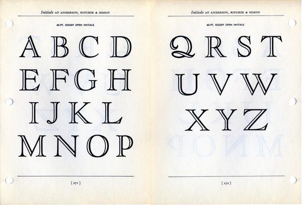 Goudy Open Initials font specimen #type #specimen #typography
