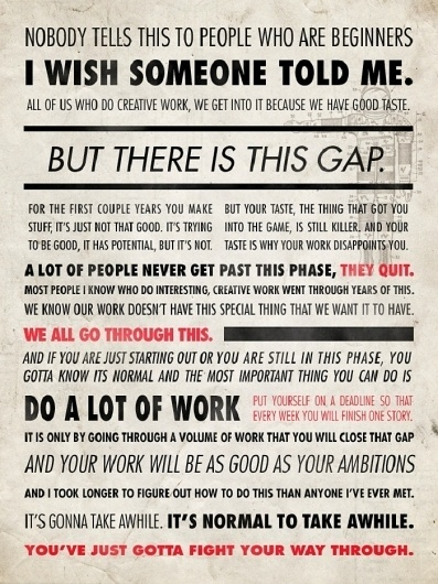 growing + asking the universe » whiteroomevents.com.au #inspirational #quote #ira #glass #poster