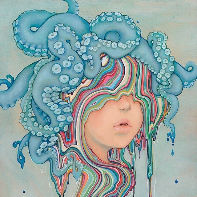 New stunning artworks by Camilla dErrico #illustration #color #octopus