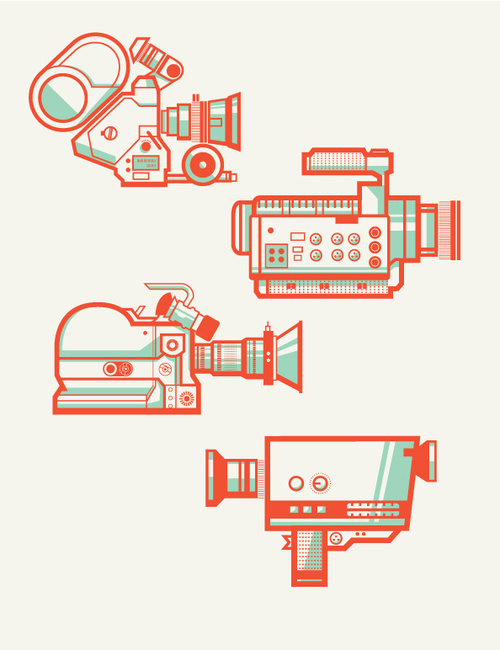 Camera Collectionby Andres Eraso #camera #illustrations