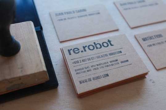 re.robot #stamp #ink #lines #business #branding #card #print #design #stationery #black #brand #identity #rules #personal #typography