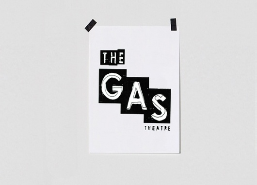 The gas theatre on the Behance Network #logo #identity #musical #theatre