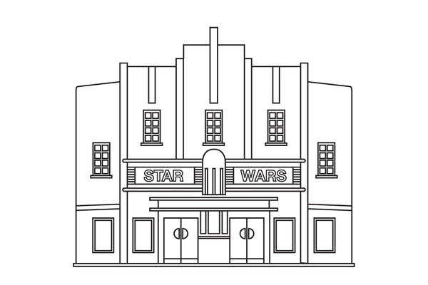 James Kape #line #vector #illustrator #building #architecture