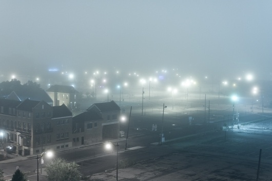 500px / Photo #foggy #fog #city #lights #downtown