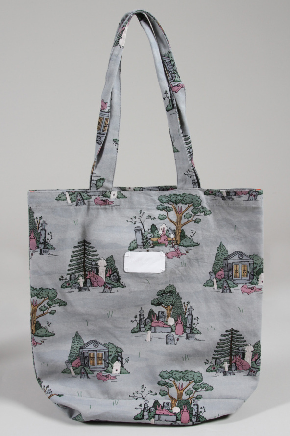 Not just for the ladies, our Bunny Boiler print also comes in tote bag form. Now available at Incu Clothing! #tote #bunny #boiler #bag #craigkarl