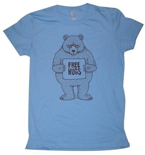 Free Hugs Bear Womens TShirt S M L XL in 9 Colors by MisNopalesArt ($1-20) - Svpply #tshirt