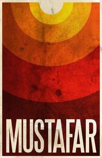 All sizes | Mustafar | Flickr - Photo Sharing! #design #wars #poster #star #minimalist