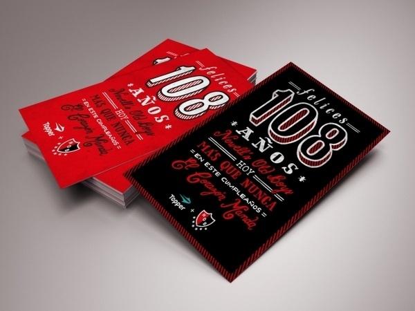 Newell's Old Boys Postcard #red #black #newells #football #postcard #typography