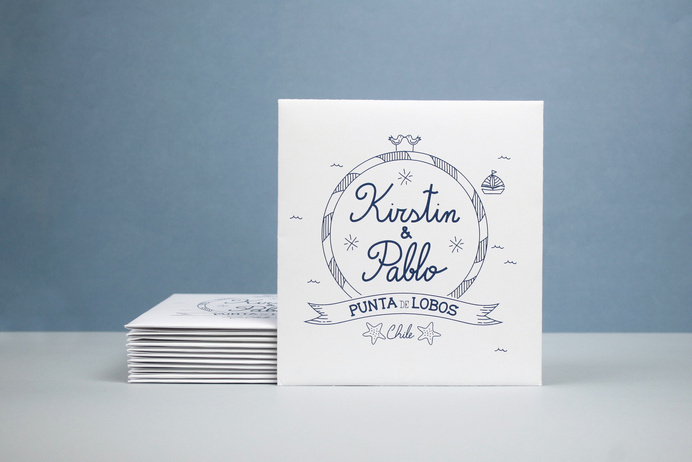 Marriage Invitation #ocean #drawings #packaging #design #graphic #desing #sea #type #layout