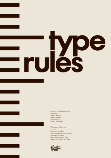 Friends of Type #type #poster