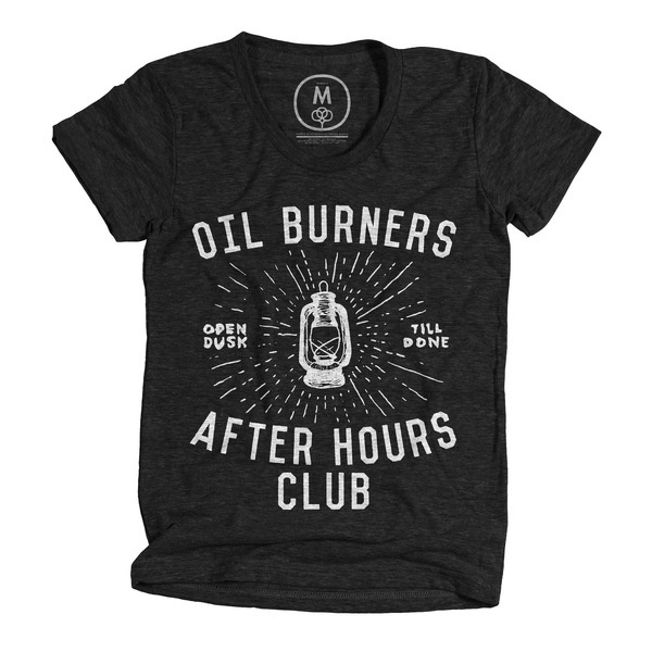 """Oil Burners"" by Alex Berdis #after #cottonbureau #heritage #white #lantern #dusk #tshirt #black #done #hours #till #burners #oil #open #club"