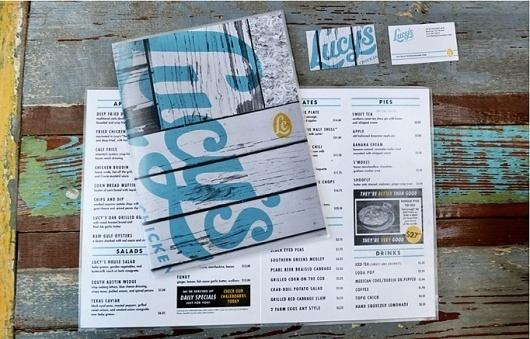 Art of the Menu: Lucy's Fried Chicken #menu