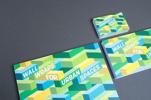 Wallspace | Identity Designed #card #identity #green