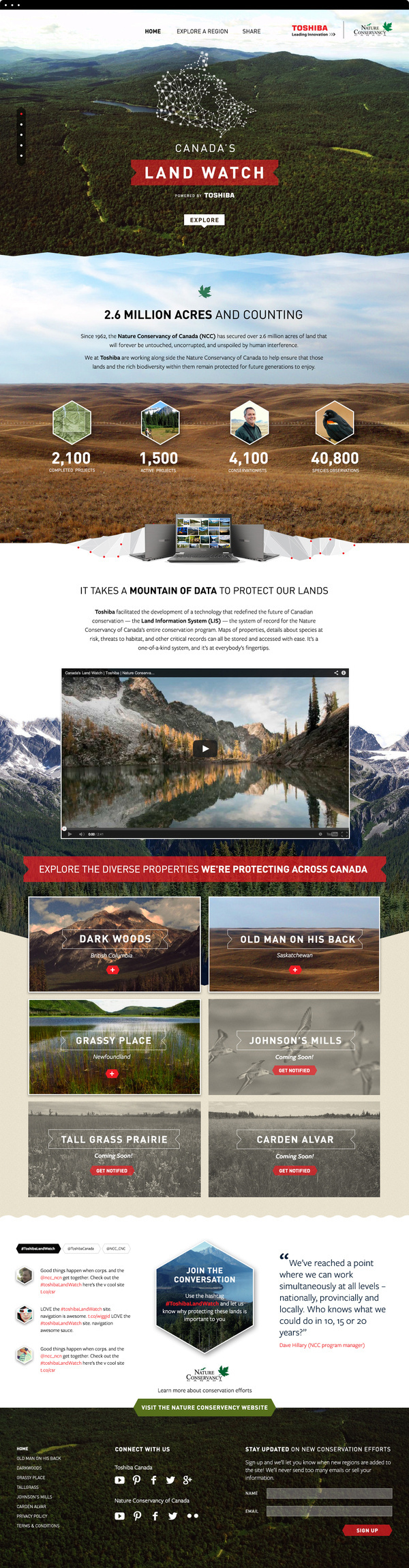Land Watch - I love the border transitions from section to section. #website #layout #sections #panels