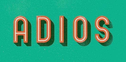 ADIOS | Flickr - Photo Sharing! #type #vector #texture #lettering