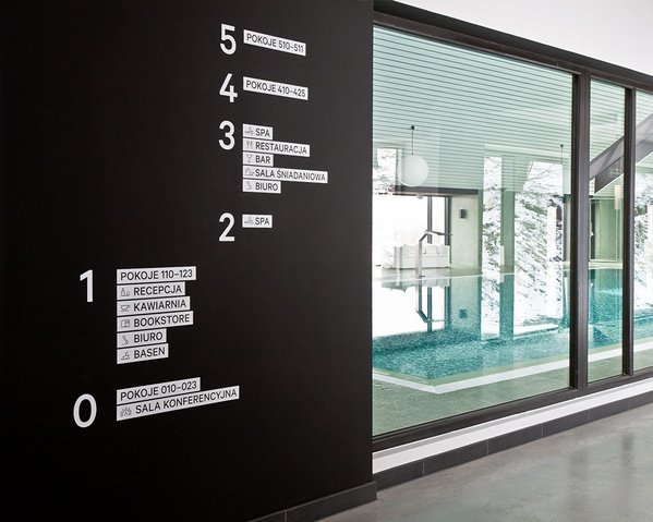 Poziom 511 Signage #interior #information #design #ignage