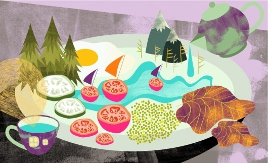 Ã…h - Travel with Food #illustration #editorial