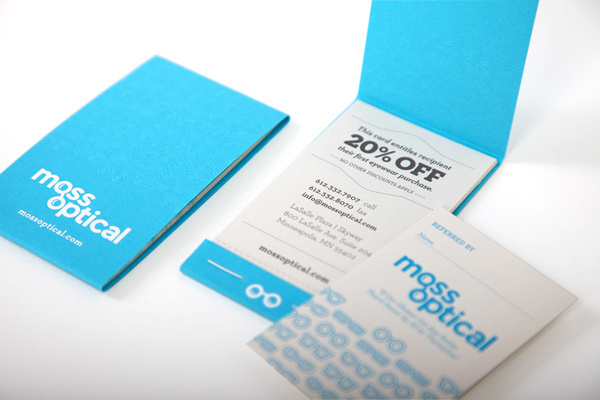 Moss Optical Brand Update on Behance #print #branding