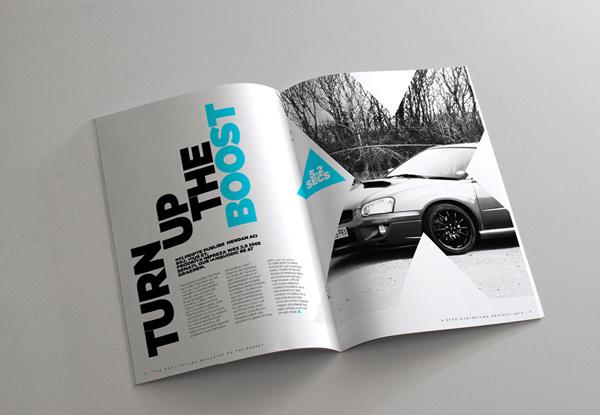 Project PRX Magazine on Behance #layouts #swiss #magazine #gotham #automotive #subaru #design #impreza #clean #indesign #mono #photography #triangle #layout #car #brochure