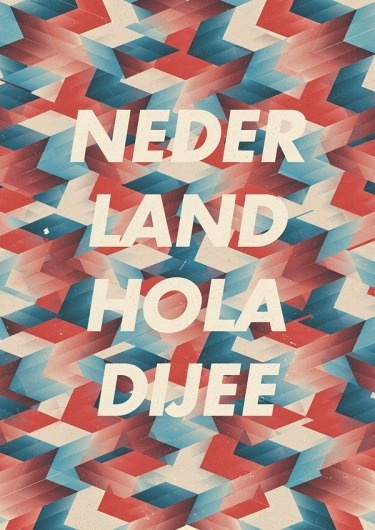 Nederland Holadijee - Marius Roosendaal—MSCED '11 #colors #types #design #graphics
