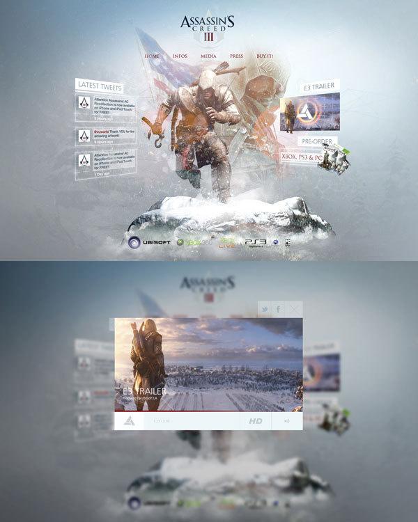 Assassins Creed 3 Re Design #design #video #3 #assassins #games #web #creed