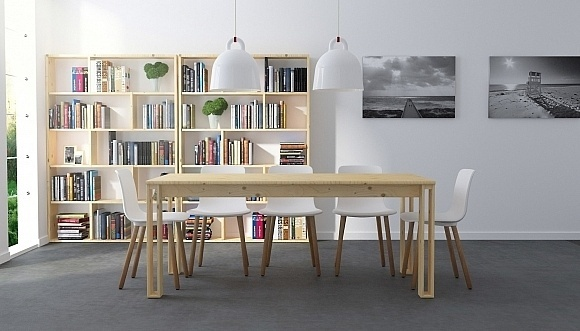 The first in a series of pieces designed by Silvia Ceñal and Lufe, the Arina Table embodies many values in one simple design. #furniture #d