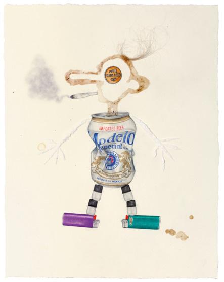 tinyvices.com #beer #vices #cigarettes #beige #aurel schmidt