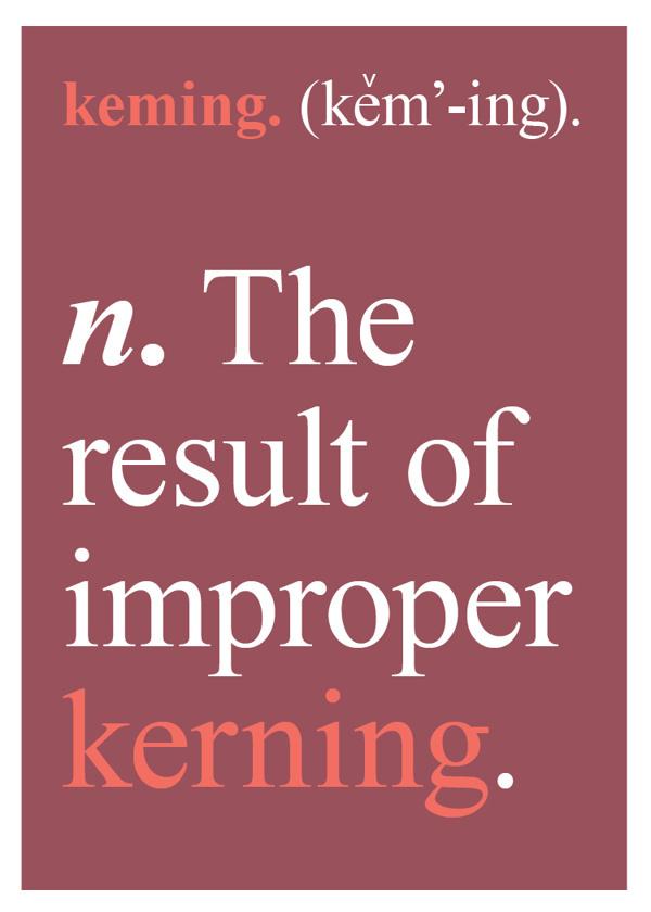 Graphic Design Pun Cards by Sara Heffernen #humor #kerning