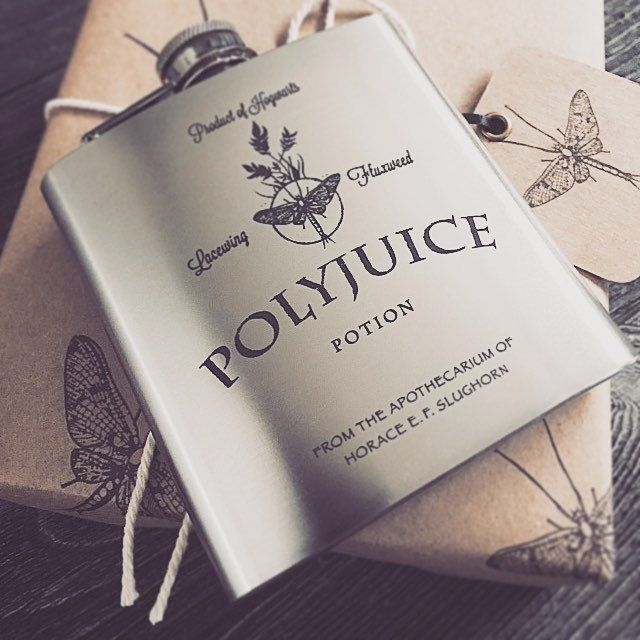 Polyjuice Potion inspired by Harry Potter 6oz Engraved Hip