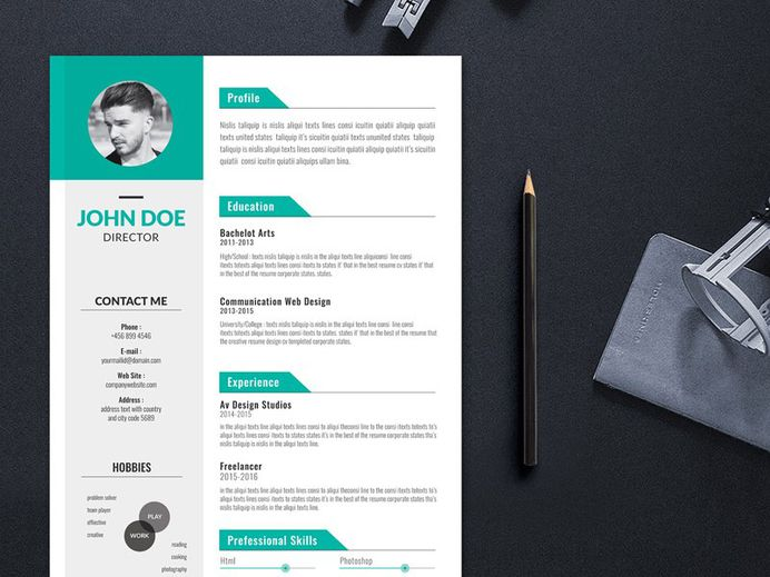 Free Creative Editable Resume Template for Job Seeker
