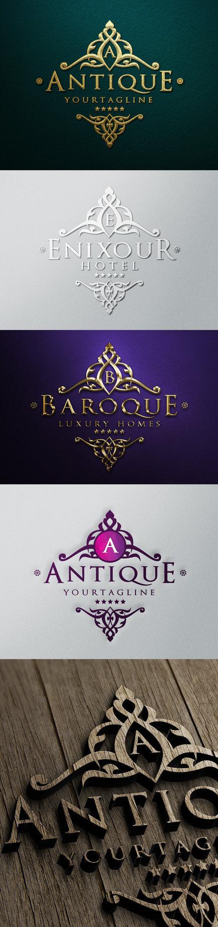 Antique Luxury Logo #template #silver #jewellery #gold #hotel #logo #antique #luxury