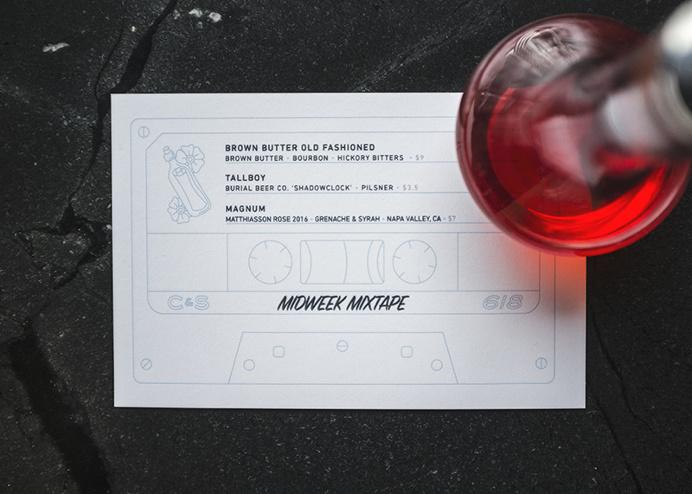 Crawford & Son Drink Menu, Mix Tape - Paul Tuorto