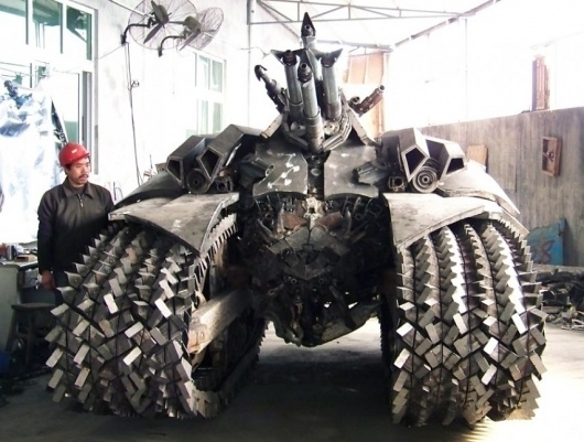 Megatron tank created by jiang chen | THEINSPIRATION.COM l THIS IS WH▲T INSPIRES US #industrial #tank #megatron