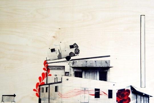 Screen print on Wood