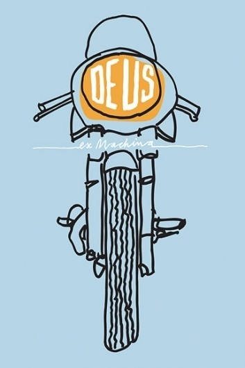 Deus Customs | Australia | Online Emporium of Goodness #yellow #illustration #blue #motorcycle #dues