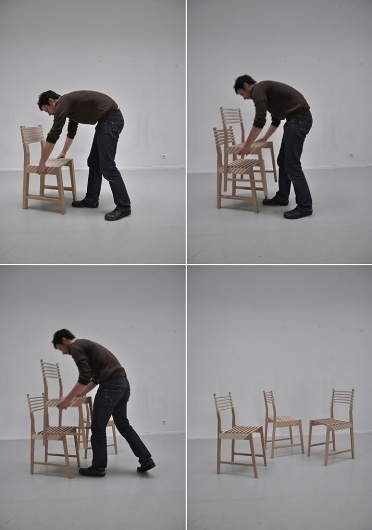 The Triplette Chair of Paul Menand (In Action) | Yatzer™ #menand #triplette #chair #the #wood #paul