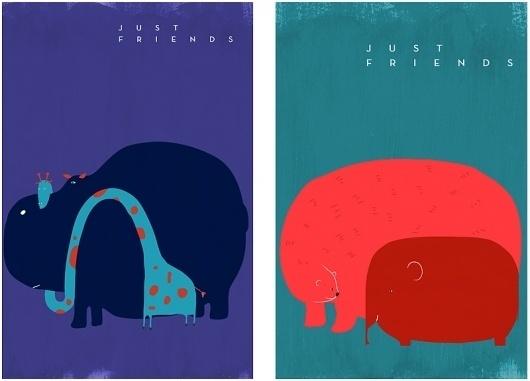 just friends #illustration #poolga #patten
