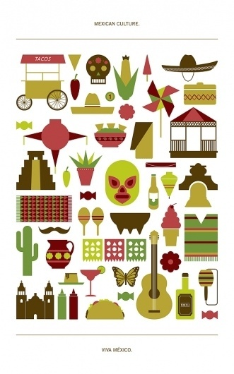 Mexican culture by Jay C. #mexico #design #graphic #illustration #grap